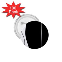 White and black 2 1.75  Buttons (100 pack)