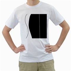 White and black 2 Men s T-Shirt (White) (Two Sided)