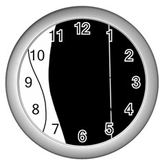 White and black 2 Wall Clocks (Silver)