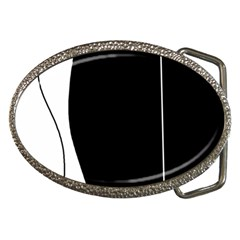White and black 2 Belt Buckles