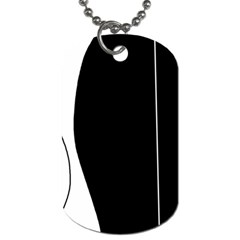 White and black 2 Dog Tag (One Side)