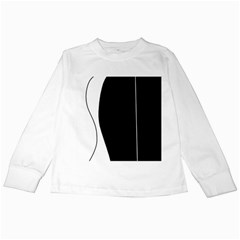White and black 2 Kids Long Sleeve T-Shirts