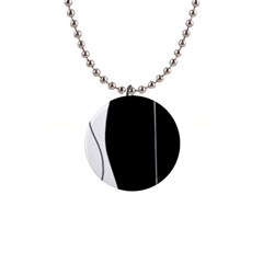 White and black 2 Button Necklaces