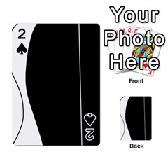 White and black 2 Playing Cards 54 Designs