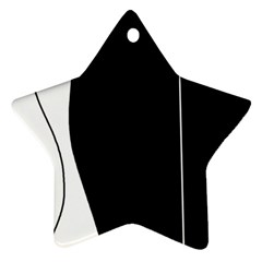 White and black 2 Star Ornament (Two Sides)