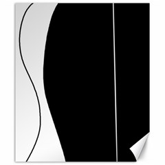 White and black 2 Canvas 20  x 24