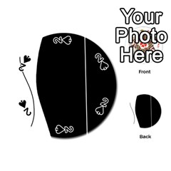 White and black 2 Playing Cards 54 (Round)