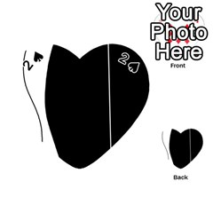 White and black 2 Playing Cards 54 (Heart)