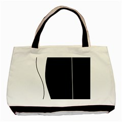 White and black 2 Basic Tote Bag (Two Sides)
