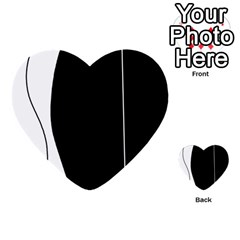 White and black 2 Multi-purpose Cards (Heart)