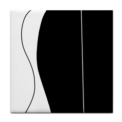 White and black 2 Face Towel