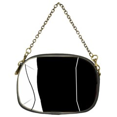 White and black 2 Chain Purses (One Side)