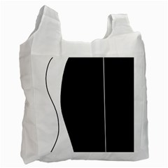White and black 2 Recycle Bag (One Side)