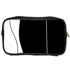 White and black 2 Toiletries Bags 2-Side