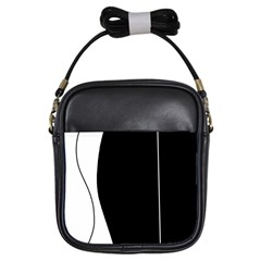 White and black 2 Girls Sling Bags