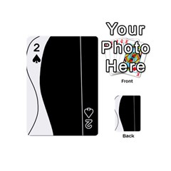 White and black 2 Playing Cards 54 (Mini)