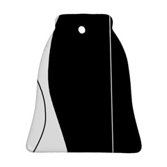 White and black 2 Bell Ornament (2 Sides)
