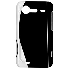 White and black 2 HTC Incredible S Hardshell Case