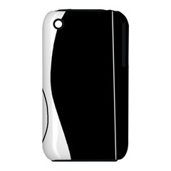 White and black 2 Apple iPhone 3G/3GS Hardshell Case (PC+Silicone)