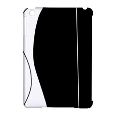 White and black 2 Apple iPad Mini Hardshell Case (Compatible with Smart Cover)