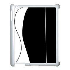 White and black 2 Apple iPad 3/4 Case (White)