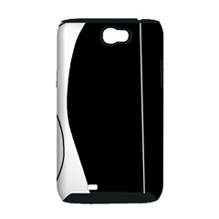 White and black 2 Samsung Galaxy Note 2 Hardshell Case (PC+Silicone)