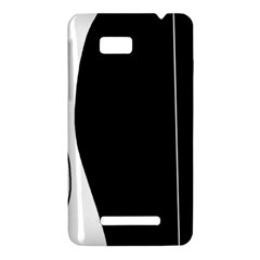 White and black 2 HTC One SU T528W Hardshell Case