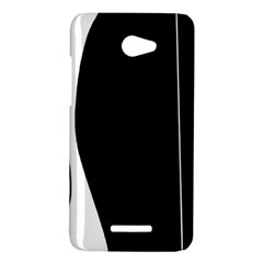 White and black 2 HTC Butterfly X920E Hardshell Case