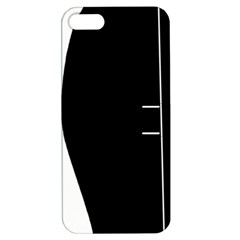 White and black 2 Apple iPhone 5 Hardshell Case with Stand