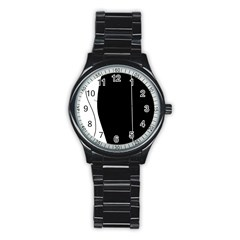 White and black 2 Stainless Steel Round Watch