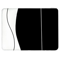 White and black 2 Samsung Galaxy Tab 7  P1000 Flip Case