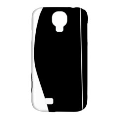 White and black 2 Samsung Galaxy S4 Classic Hardshell Case (PC+Silicone)