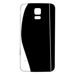 White and black 2 Samsung Galaxy S5 Back Case (White)
