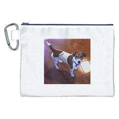 Jack Russell Terrier Full second Canvas Cosmetic Bag (XXL)