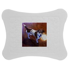 Jack Russell Terrier Full second Jigsaw Puzzle Photo Stand (Bow)