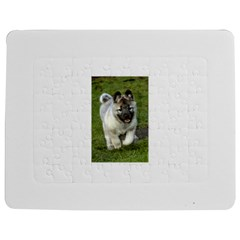 Norwegian Elkhound Puppy Jigsaw Puzzle Photo Stand (Rectangular)