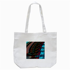 Abstract Background Lines Art Tote Bag (White)