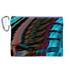 Abstract Background Lines Art Canvas Cosmetic Bag (XL)