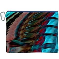 Abstract Background Lines Art Canvas Cosmetic Bag (XXXL)