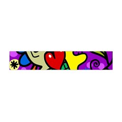 Abstract Background Pattern Design Flano Scarf (Mini)
