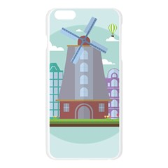Amsterdam Landmark Landscape Apple Seamless iPhone 6 Plus/6S Plus Case (Transparent)