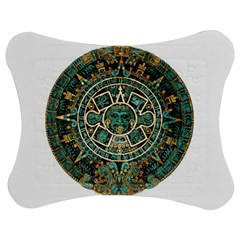 Aztec Calendar Round Disc Historic Jigsaw Puzzle Photo Stand (Bow)