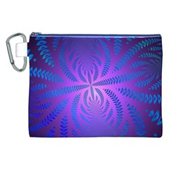 Background Brush Particles Wave 3 Canvas Cosmetic Bag (XXL)