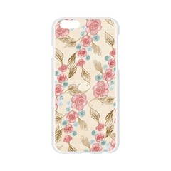Background Page Template Floral  Apple Seamless iPhone 6/6S Case (Transparent)