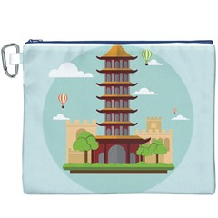 China Landmark Landscape Chinese Canvas Cosmetic Bag (XXXL)
