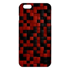 Black Red Tiles Checkerboar iPhone 6 Plus/6S Plus TPU Case