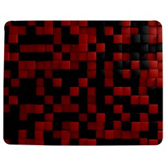 Black Red Tiles Checkerboar Jigsaw Puzzle Photo Stand (Rectangular)