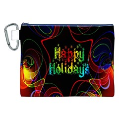 Christmas Greeting Desire Canvas Cosmetic Bag (XXL)
