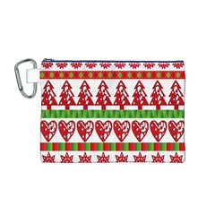 Christmas Icon Set Bands Star Fir Canvas Cosmetic Bag (M)