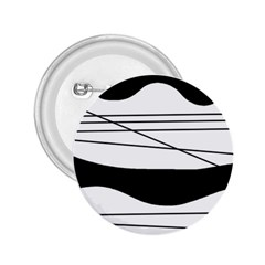 White and black waves 2.25  Buttons